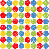 Pattern of colored scratched circles — Stock Vector