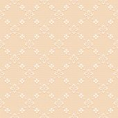 Beige  classic seamless pattern — Stock Vector