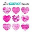 Collection of  grunge  hearts — Stock Vector #68244165
