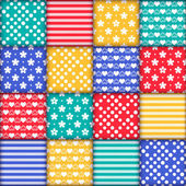 Set of  colorful seamless pattern — Stock Vector