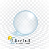 Clear glass transparency sphere — Stock Vector