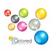 Bright collection of colorful balls — Stock Vector