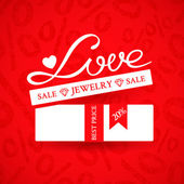 Jewelry sale banner — Stock Vector