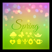 Background with spring weather — Vetor de Stock