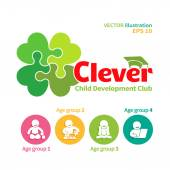 Logo of child development club — Vector de stock