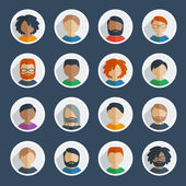 Collection of 25 user icons — Stock Vector