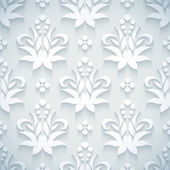 Embossed white royal floral pattern — Stock Vector