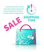 Shoppingväska med reklam — Stockvektor