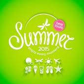 Colorful lettering summer — Stock Vector