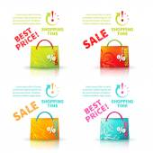 Bright shopping bags — Stock Vector