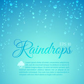 Raindrops running down — Stock Vector