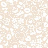 Pale romantic seamless pattern — Stock Vector