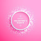 Happy Valentines day sign background — Stock Vector