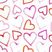 Lipstick heart seamless on white — Stock Vector