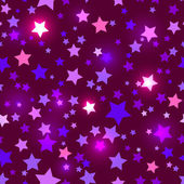 Disco Seamless with shiny purple stars — Stock Vector