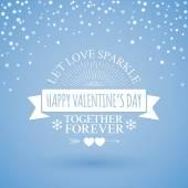 Valentines day Classic badge — Stock Vector