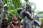 Balinese religious statues in a sacred park — Stok fotoğraf