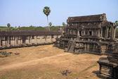 Ruins of ancient Khmer temple - Angkor Wat — Stock Photo