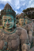 Khmer ancient sculptures nearby Angkor Wat — Stock Photo