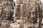 Four sides stone faces of Bayon temple in Angkor - Khmer ancient — Stock Photo