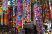 Suvenier store with traditional Mexican handmade craft — Stock Photo