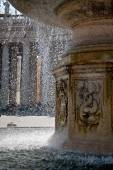 Water drops in a splash running from fountain in Vatican — Stock Photo