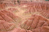 Aerial view to canyons in Tatacoa desert — Stock Photo