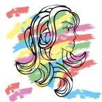 ������, ������: Profile of girl