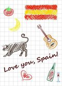 Love you spain — Stock Vector