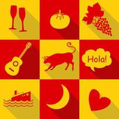 Spain icons — Stock Vector