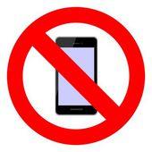 No mobile — Stock Vector