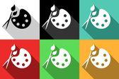 Måla ikoner — Stockvektor