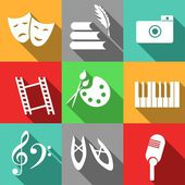 Icons with arts — Stockvector