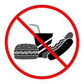 没有有害食品黑 — 图库矢量图片