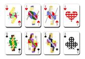 Playing cards chirwa clubs — Stock Vector