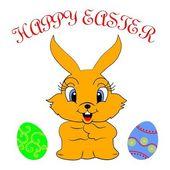 Easter-Bunny — Stock Vector