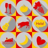 Spain-icons — Stock Vector