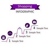 Commerçante infographique — Vecteur