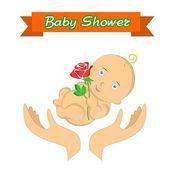 Baby- en handen — Stockvector