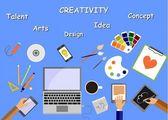 Creativity — Stock Vector