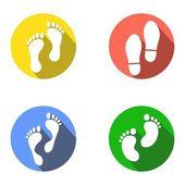 Foot marks — Stock Vector