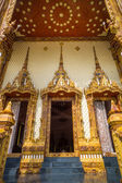 Doors of church in temple, Thailand — Stock Photo