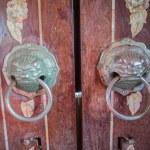 Knob on door of church — Stock Photo #56836691
