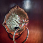 Knob on door of church — Stock Photo #56836887