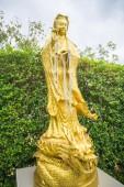 Golden dragon image in temple, Thailand — Stockfoto