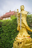 Golden dragon image in temple, Thailand — Stock Photo