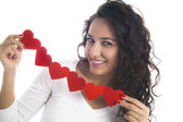 Girl with Heart's Wreath — Stock Photo