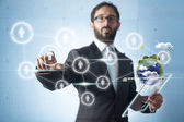 Touch screen concept — Stock Photo