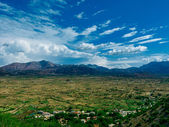 The sky of Lasithi valley — Stock Photo