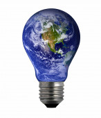 Lightbulb Earth — Fotografia Stock